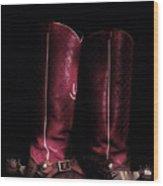Moon Lite Boots Wood Print