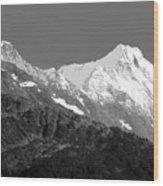 Moon Over Alaska Wood Print