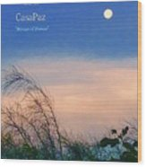 Moon Over Casapaz Wood Print
