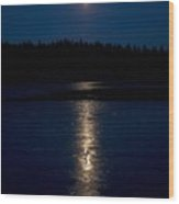 Moon Over Saari-soljanen 1 Wood Print