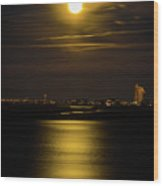 Moon Over Tubbs Wood Print