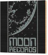 Moon Records Wood Print