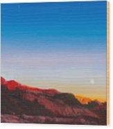 Moon Rise Over Palo Duro  Wood Print