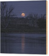 Moon Rise Over The Tongue Wood Print