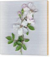 Moon River Rose Wood Print