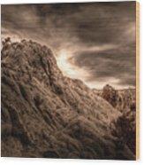 Moon Rocks Wood Print by Scott McGuire