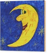 Moon Shine Wood Print