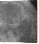 Moon Surface Close-up Wood Print
