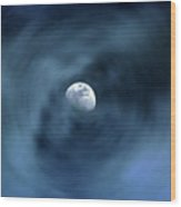 Moon Swirl Wood Print