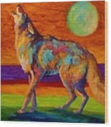 Moon Talk - Coyote Wood Print