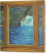 Moon Window Wood Print