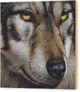 Moon Wolf Wood Print