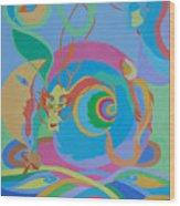 Moonbird In A Dragon Spiral Wood Print