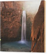 Mooney Falls Grand Canyon 1 Wood Print