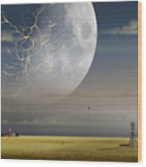 Moonfall Wood Print