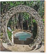Moongate - Bermuda Wood Print