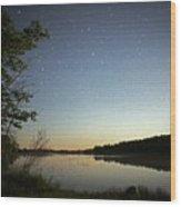 Starlight Over Susan Lake Wood Print