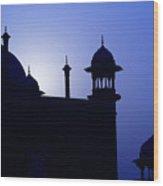 Moonlight And Minarets Wood Print