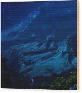 Moonlight At Grand Canyon Wood Print