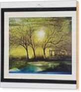 Moonlight At Masinagudi Wood Print