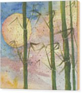 Moonlight Bamboo 2 Wood Print