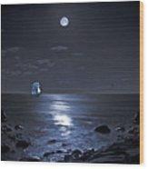Moonlight Bay Wood Print