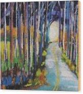 Moonlight Glimpse Wood Print