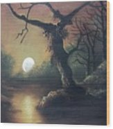 Moonlight Harmony Wood Print