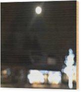 Moonlight In Edgemont Wood Print