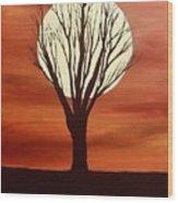 Moonlight Mile Wood Print