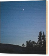 Moonlight Mirage Methow Valley Landscapes By Omashte Wood Print