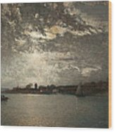 Moonlight Mood, The Stockholm Inlet  Wood Print