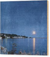 Moonlight On Mackinac Island Michigan Wood Print