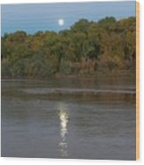 Moonlight On The Rio Grande Wood Print