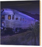 Moonlight On The Sante Fe Chief Wood Print