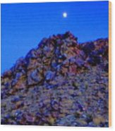 Moonlight Over Peggy's Mountain Wood Print