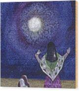 Moonlight Prayer Wood Print