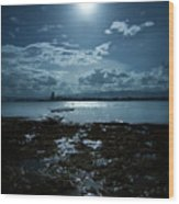 Moonlight Wood Print by Rodell Ibona Basalo