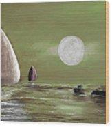 Moonlight Sailnata 2 Wood Print