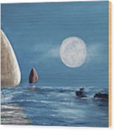 Moonlight Sailnata 4 Wood Print