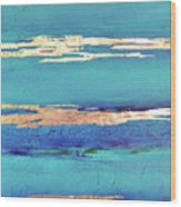 Moonlight Sea Wood Print