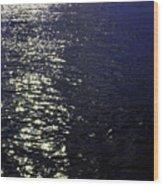 Moonlight Sparkles On The Sea Wood Print