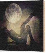 Moonlight Tanning V3 Wood Print