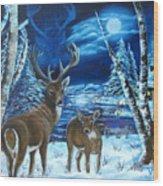 Moonlight Walk Wood Print