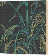 Moonlight Wheat Wood Print