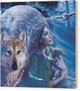 Moonlit Brethren Variant 1 Wood Print