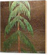 Moonlit Cedar  Wood Print