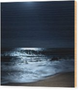 Moonlit Coconut Wood Print