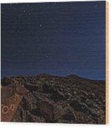 Moonlit Night, Atacama Desert, Chile Wood Print