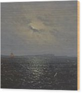 Moonlit Night By Ruegen Wood Print